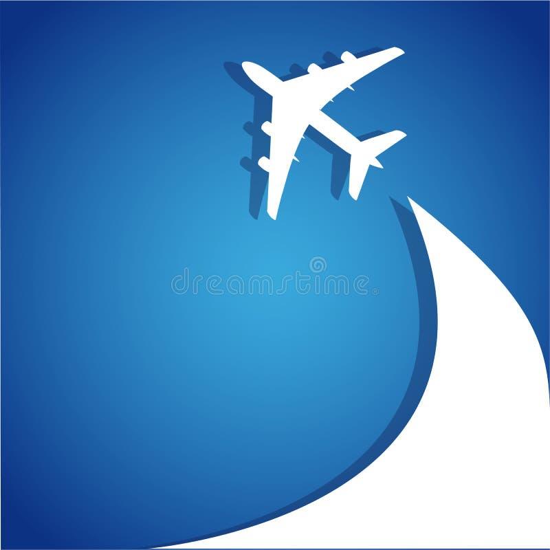 Biglietti di volo dell'aeroplano royalty illustrazione gratis