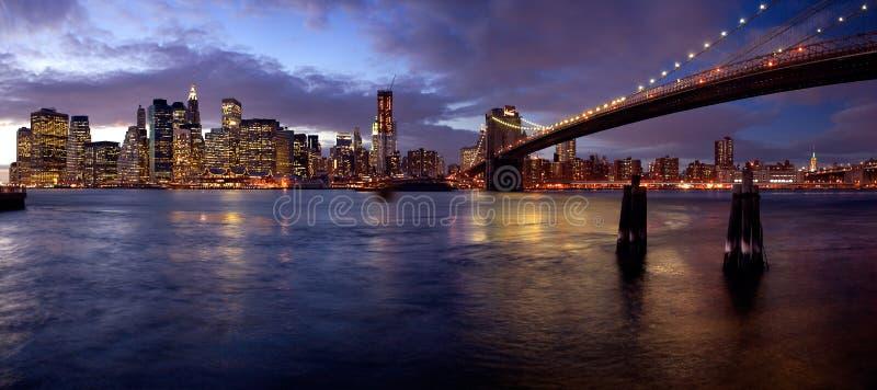 Azzurri di Manhattan fotografia stock libera da diritti