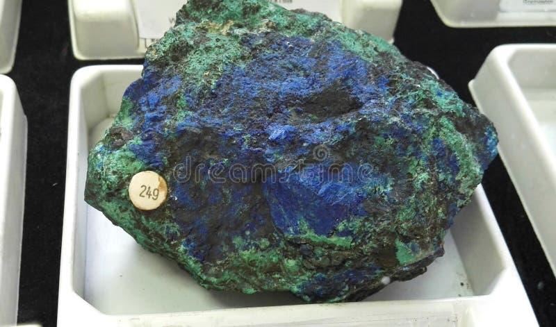 Azzurrite con malachite fotografia stock