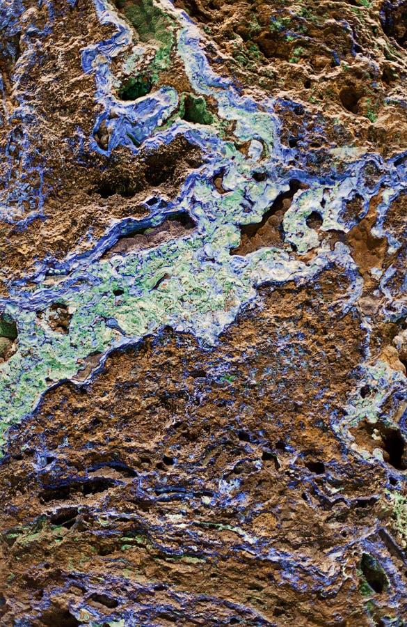Azzurrite e malachite fotografie stock