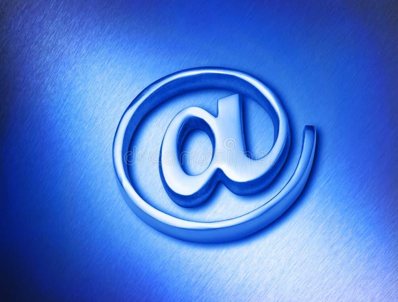 Azzurro al segno fotografie stock libere da diritti