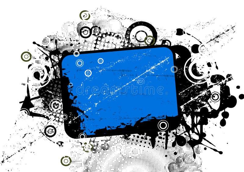 Azzurro astratto della priorità bassa royalty illustrazione gratis