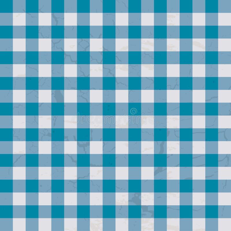 Azzurro del panno della Tabella illustrazione di stock