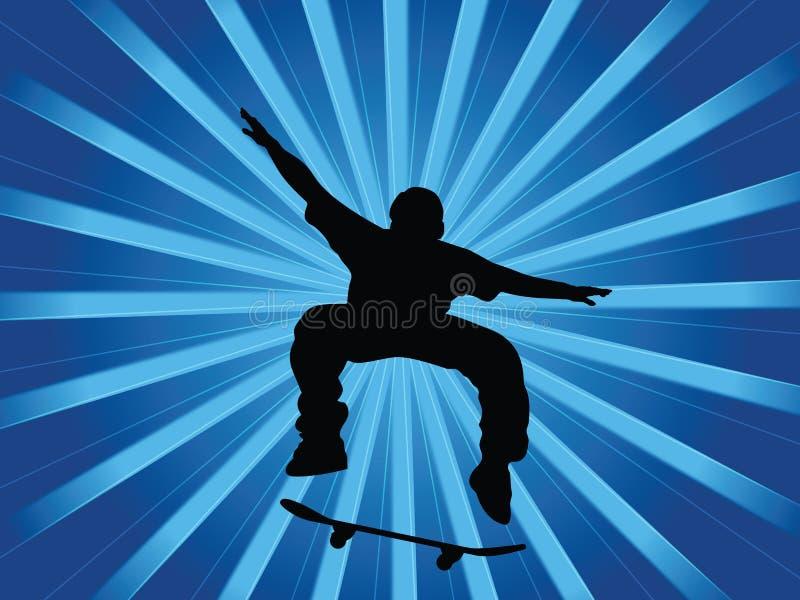 Azzurro del pattinatore royalty illustrazione gratis