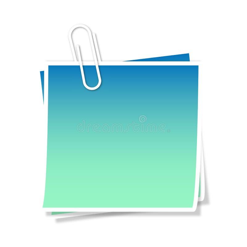 Azzurro del post-it illustrazione vettoriale