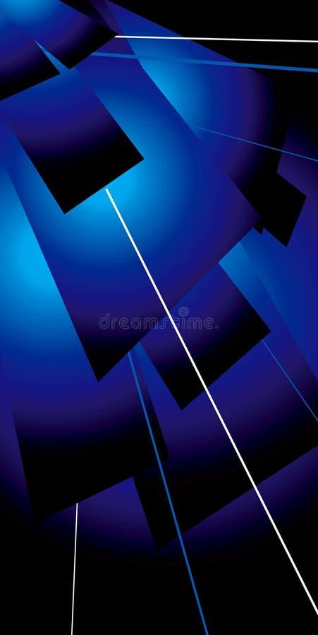 Azzurro dell'alettone di Lazer illustrazione vettoriale
