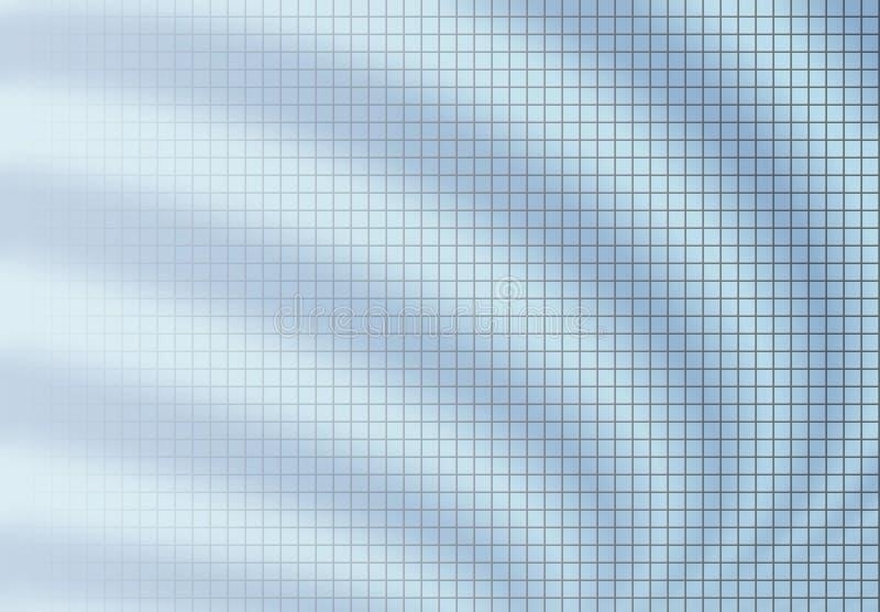 Azzurro della priorità bassa della sfuocatura di griglia illustrazione vettoriale