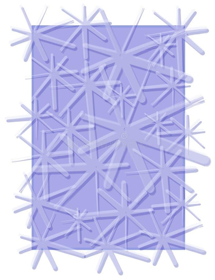 Azzurro di inverno del reticolo dei fiocchi di neve illustrazione vettoriale