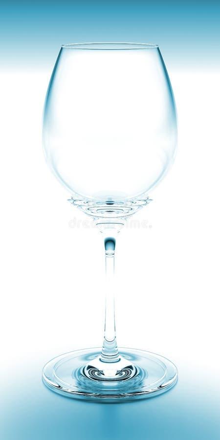 Azzurro di vetro di vino immagine stock libera da diritti