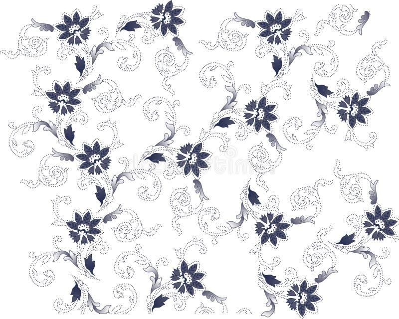Azzurro sulla priorità bassa del fiore bianco illustrazione vettoriale