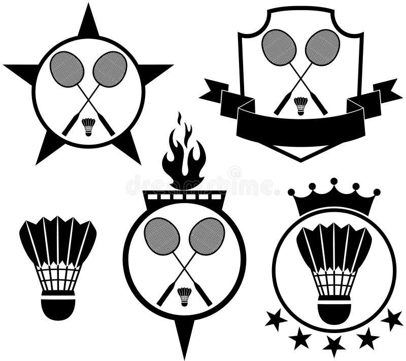bádminton ilustración del vector