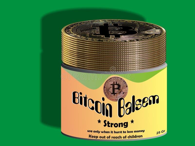 Bálsamo de Bitcoin - ungüento stock de ilustración