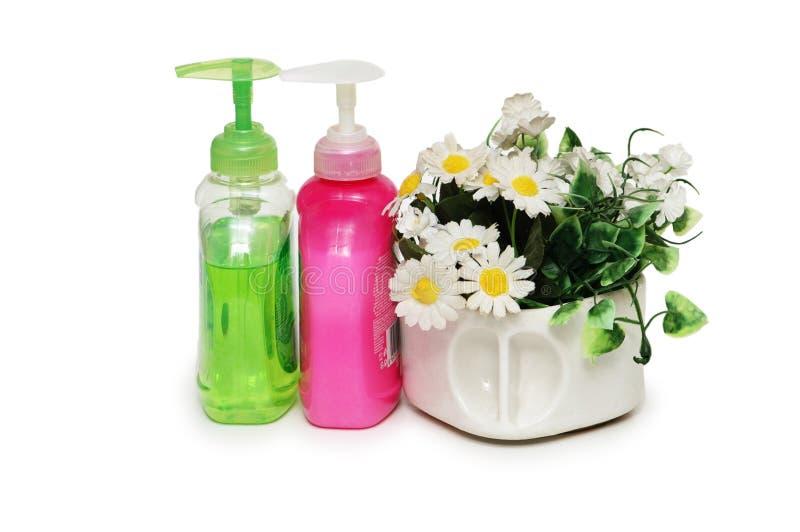 Bálsamos e flores da pele para termas foto de stock