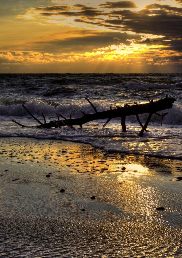 Báltico antes de la puesta del sol fotografía de archivo