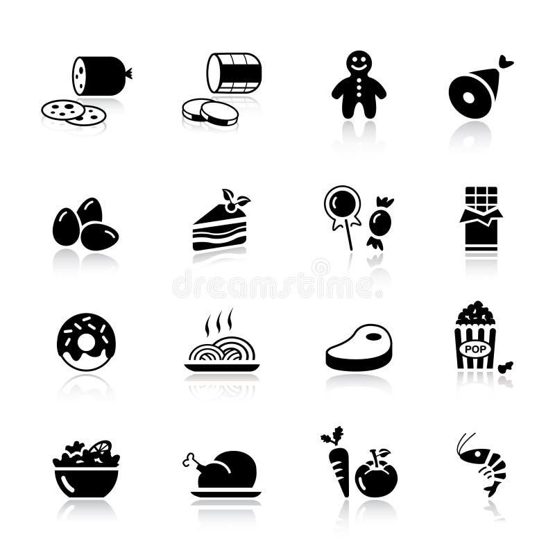 Básico - ícones do alimento ilustração stock