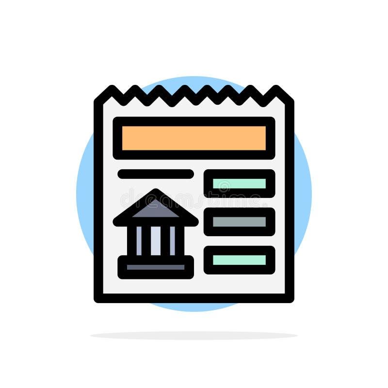 Básico, documento, Ui, ícone liso da cor do fundo do círculo do sumário do banco ilustração stock