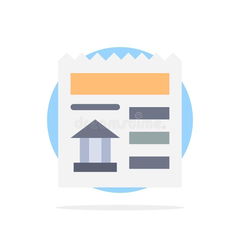 Básico, documento, Ui, ícone liso da cor do fundo do círculo do sumário do banco ilustração do vetor