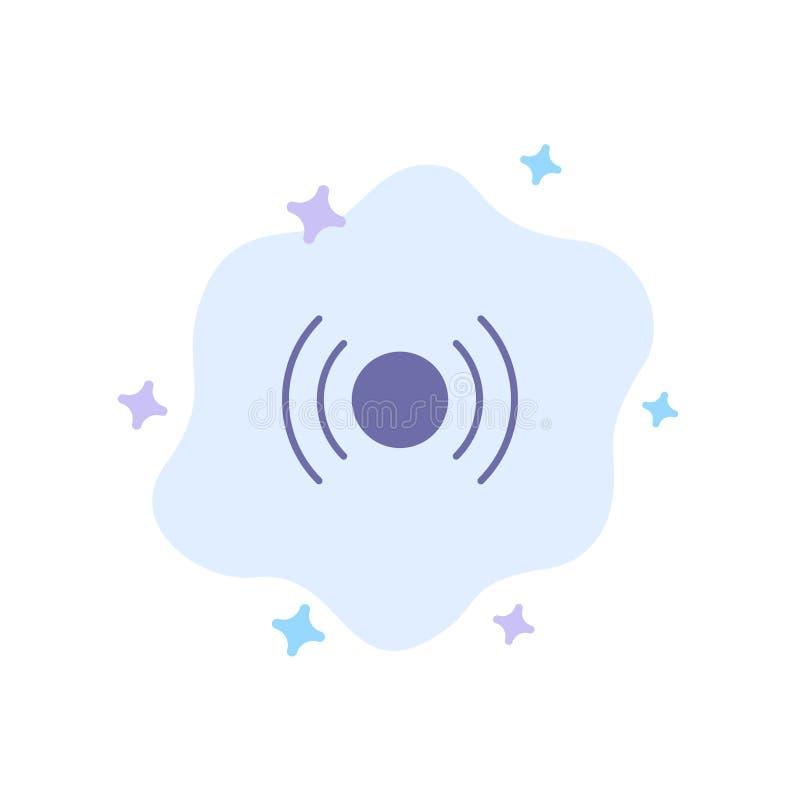 Básico, esencial, señal, Ui, icono azul de Ux en fondo abstracto de la nube ilustración del vector