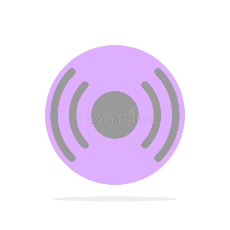 Básico, esencial, señal, Ui, icono plano del color de fondo abstracto del círculo de Ux stock de ilustración