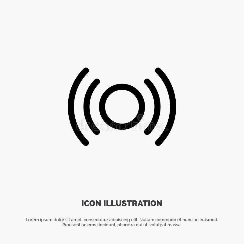 Básico, esencial, señal, Ui, línea vector de Ux del icono libre illustration