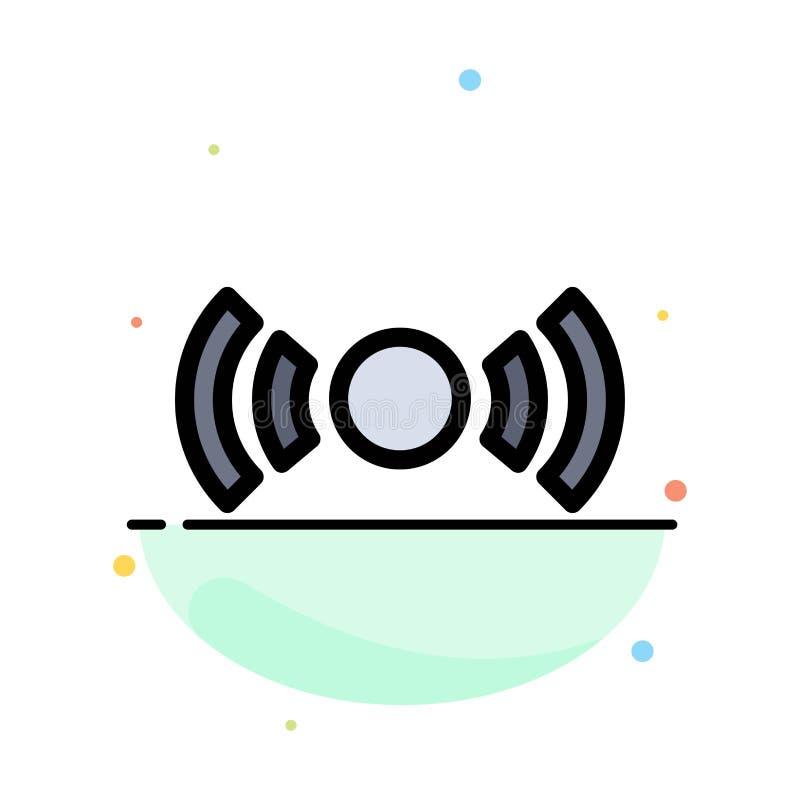 Básico, esencial, señal, Ui, plantilla plana del icono del color del extracto de Ux ilustración del vector