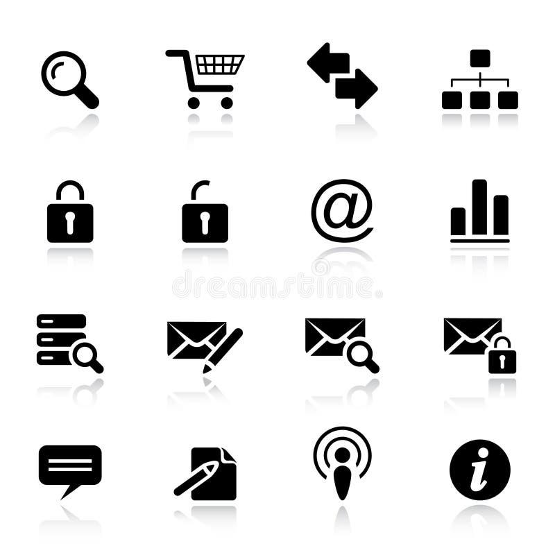 Básico - iconos clásicos del Web ilustración del vector