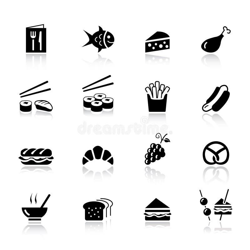Básico - iconos del alimento libre illustration