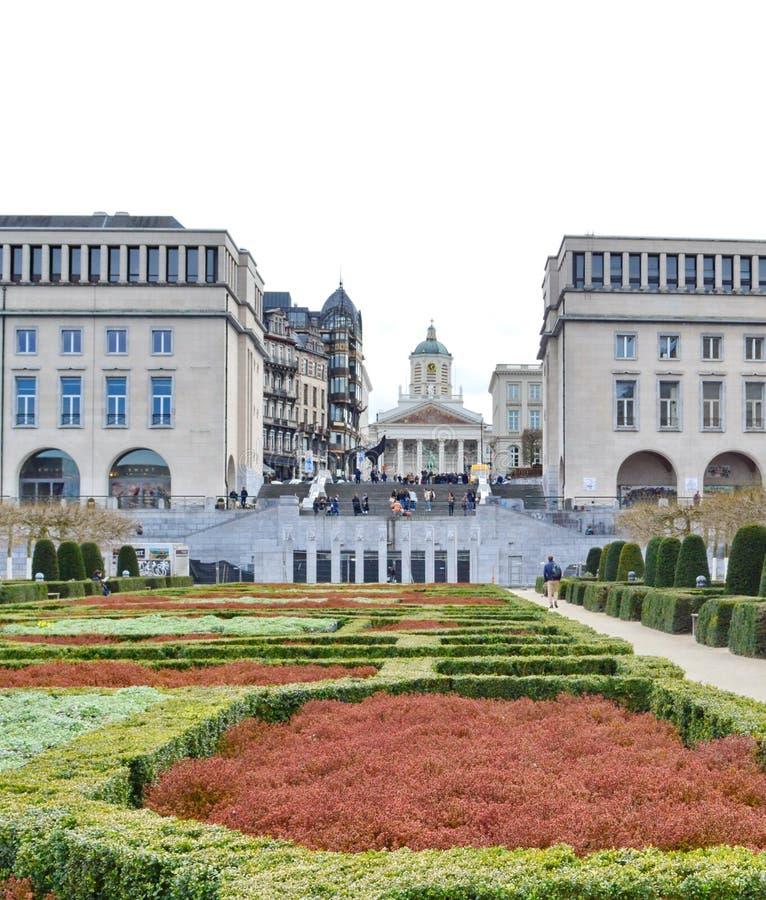 Bâti d'arts de DES de Kunstberg ou de Mont des arts à Bruxelles, Belgique photo libre de droits