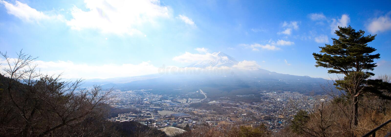 Bâti de Fuji en journée photo stock