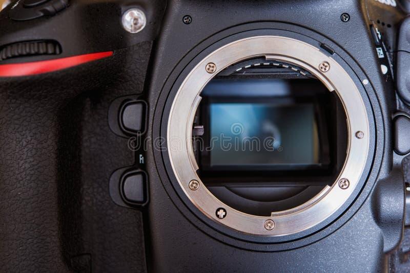 Bâti de lentille de DSLR photographie stock libre de droits