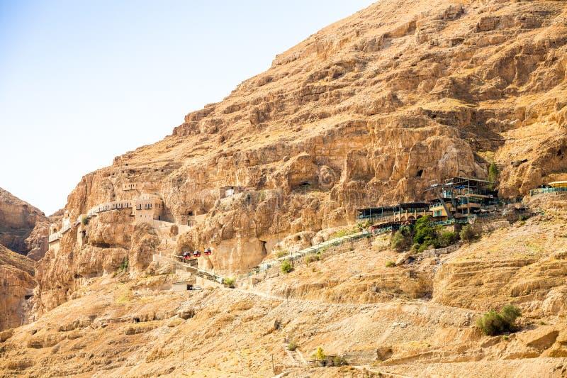 Bâti de tentation à côté de Jéricho - endroit où Jésus était temp photo stock