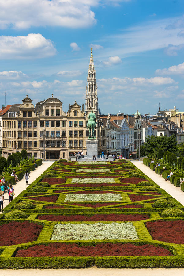 Bâti des arts à Bruxelles, Belgique photo libre de droits