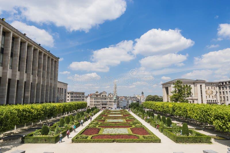 Bâti des arts à Bruxelles, Belgique image libre de droits