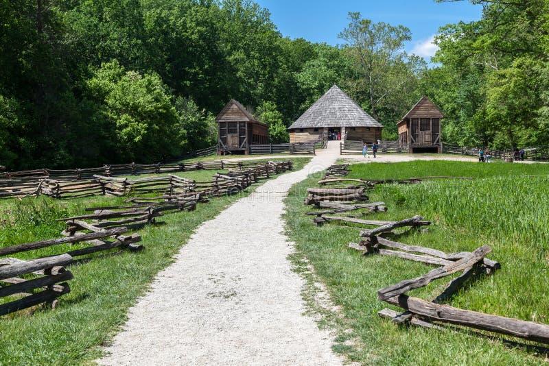 Bâti en bois Vernon Washington de carlingue image libre de droits