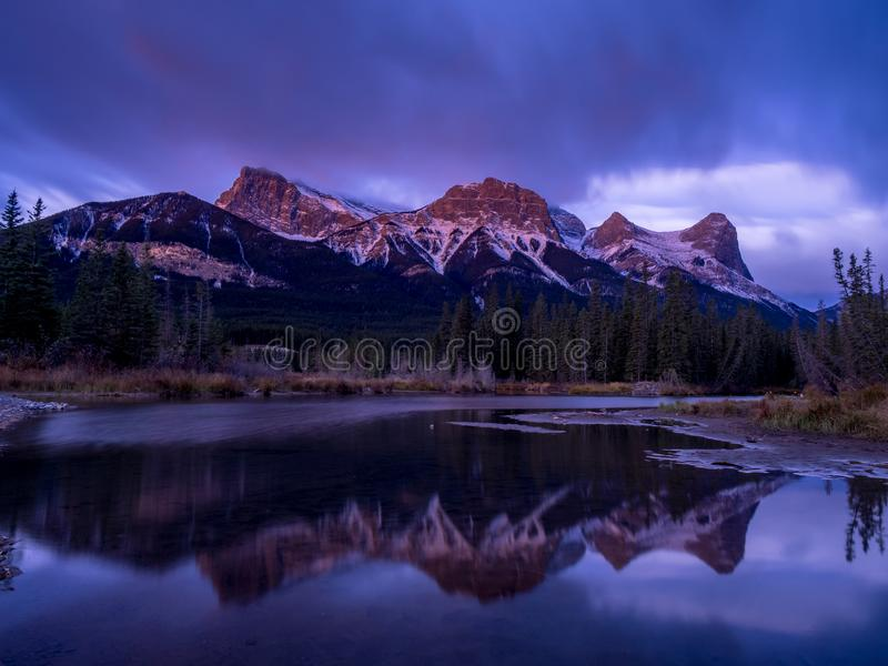 Bâti Lawrence Grassi, Canmore Alberta images stock