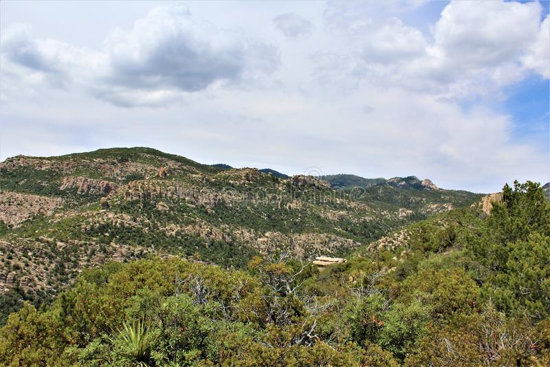 Bâti Lemmon, Santa Catalina Mountains, réserve forestière de Coronado, Tucson, Arizona, Etats-Unis image stock