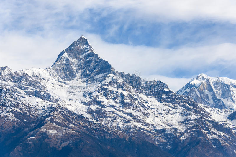 Bâti Machapuchare au Népal image stock