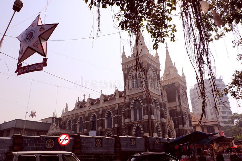 Bâti Mary Church, Mumbai images stock
