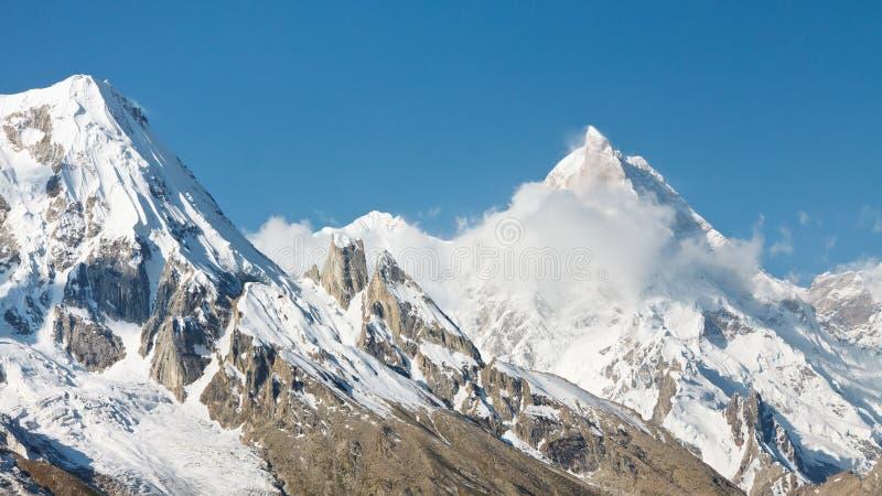 Bâti Masherbrum, montagnes de Karakorum, Pakistan image libre de droits