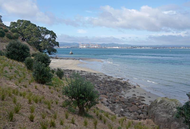 Bâti Maunganui à Tauranga, Nouvelle-Zélande image libre de droits