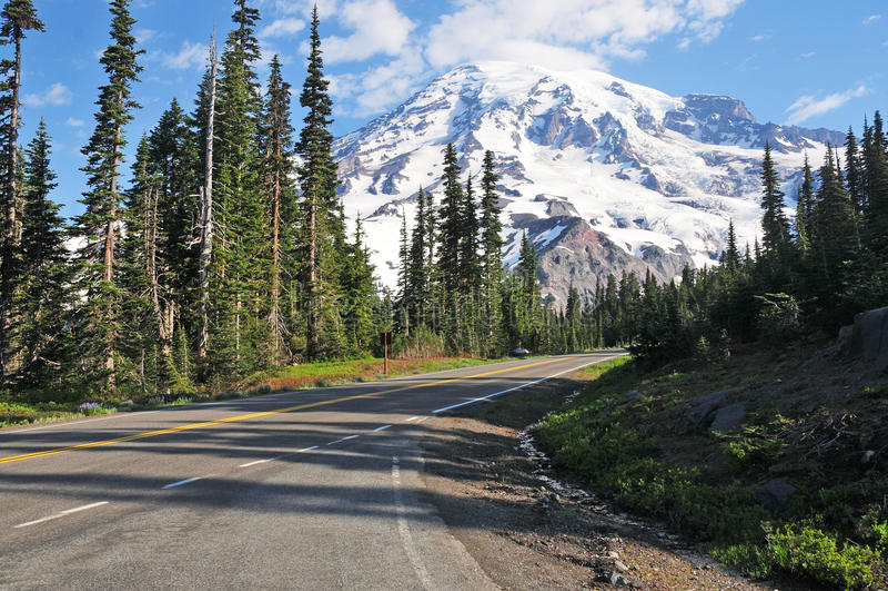Bâti Rainier National Park, Washington, Etats-Unis photos stock