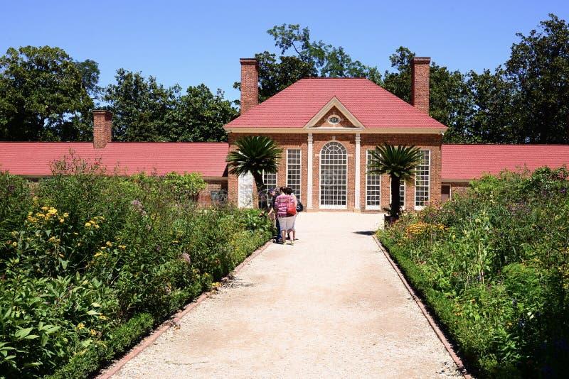 Bâti Vernon Estate Greenhouse du ` s de Washington images libres de droits