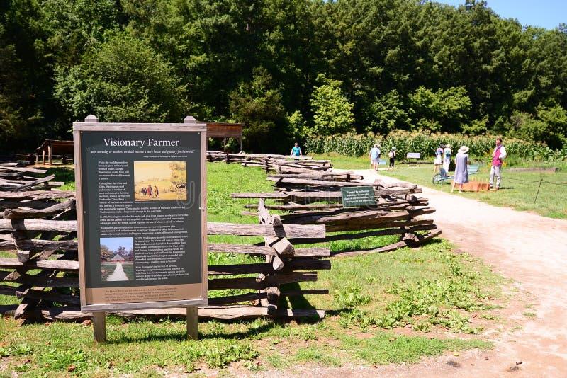 Bâti Vernon Farmland Exhibit du ` s de Washington image stock