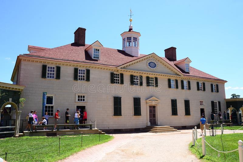 Bâti Vernon Mansion du ` s de Washington photographie stock