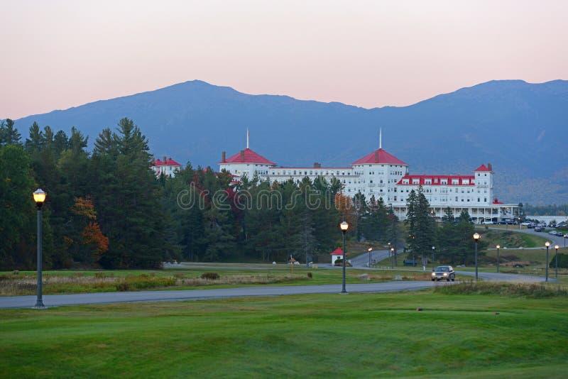 Bâti Washington Hotel, New Hampshire, Etats-Unis photos libres de droits