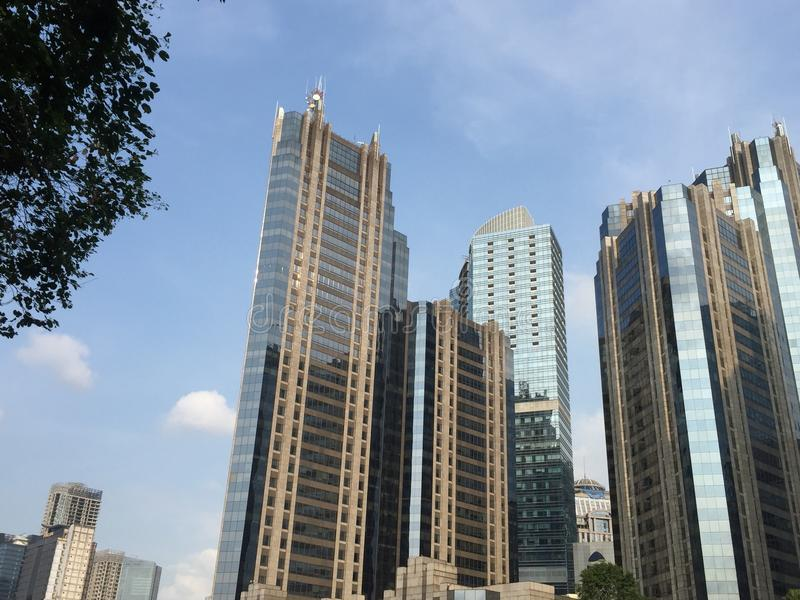 Bâtiment à Jakarta central image stock