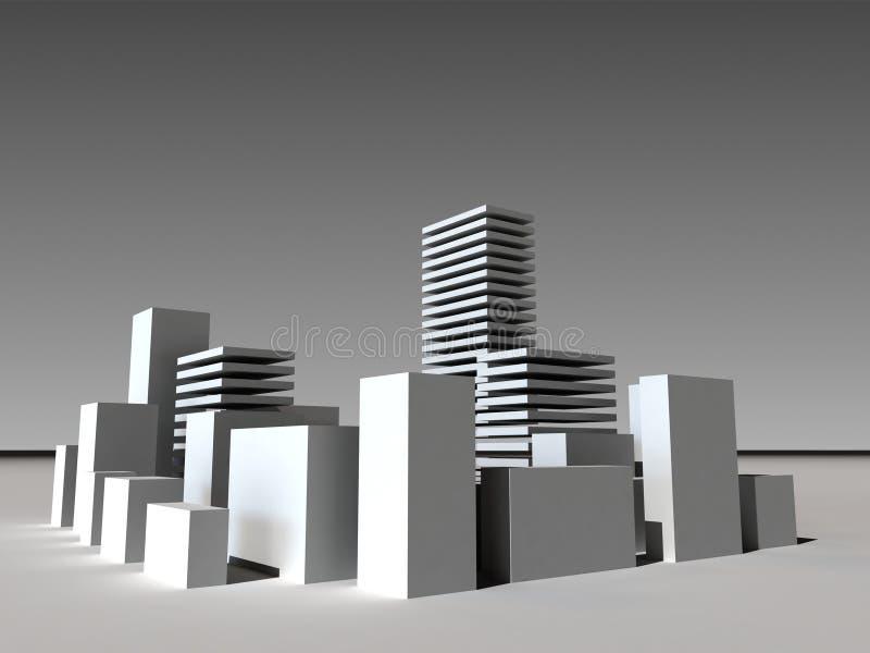 Bâtiment 3D d'affaires illustration libre de droits