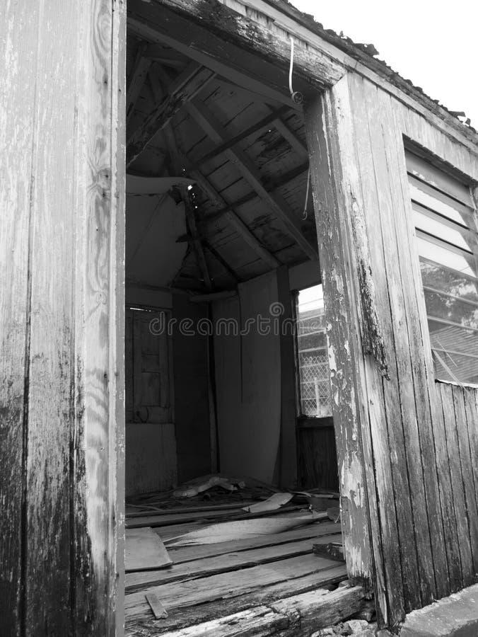 Bâtiment abandonné dans Statia photographie stock libre de droits