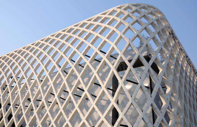 Bâtiment abstrait moderne d'architecture images libres de droits