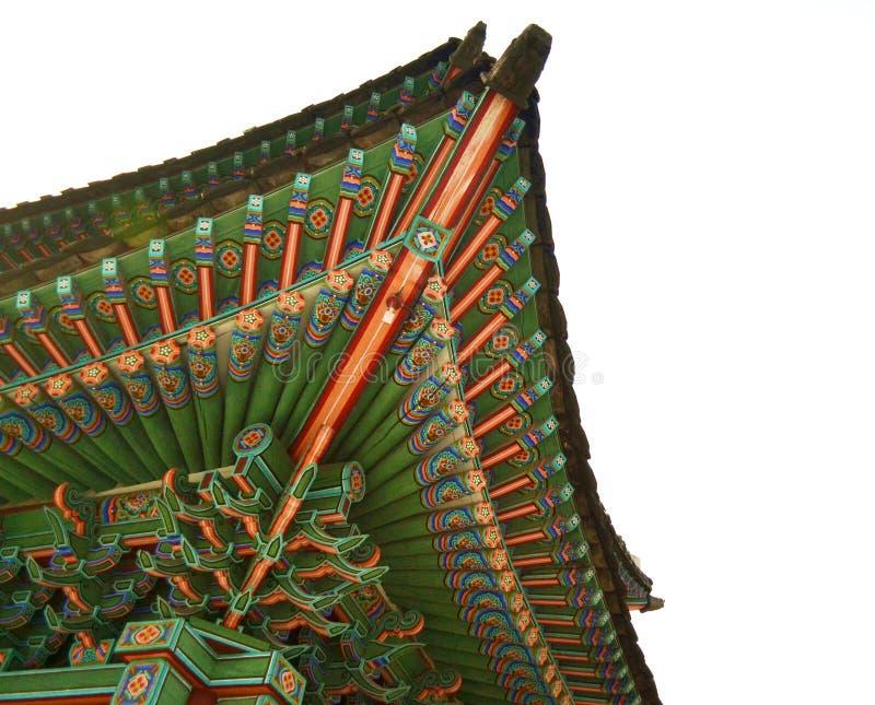 Bâtiment antique coréen images stock